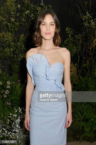 Alexa Chung attends a private dinner to celebrate the launch of the new ALEXACHUNG x Sunglass Hut eyewear collection at Wild by Tart on February 16...