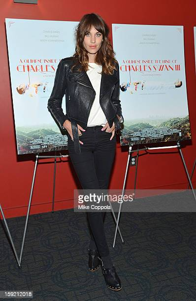 Alexa Chung attends a screening of 'A Glimpse Inside The Mind Of Charles Swan III' at Landmark Sunshine Cinema on January 9 2013 in New York City