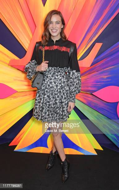 Alexa Chung attends an after party celebrating the reopening of the Louis Vuitton New Bond Street Maison at Annabel's on October 23 2019 in London...