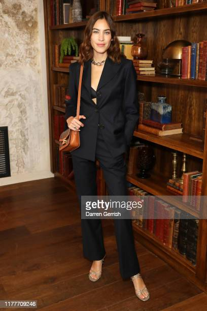 Alexa Chung attends as BFC & Alexa Chung celebrate British Creative Talent in Paris at the Hoxton on September 28, 2019 in Paris, France.