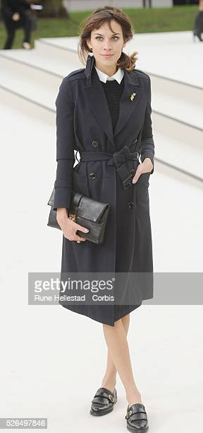 Alexa Chung attends Burberry Prorsum's Autumn/ Winter 2012 fashion show at London Fashion Week
