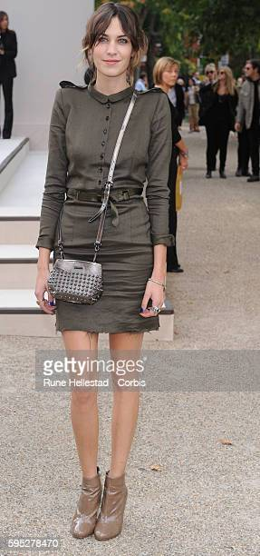 Alexa Chung attends Burberry's Spring 2011 show in London