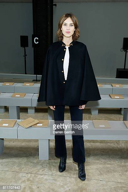 Alexa Chung attends Christopher Kane LFW AW16 show at Tate Modern on February 22 2016 in London England