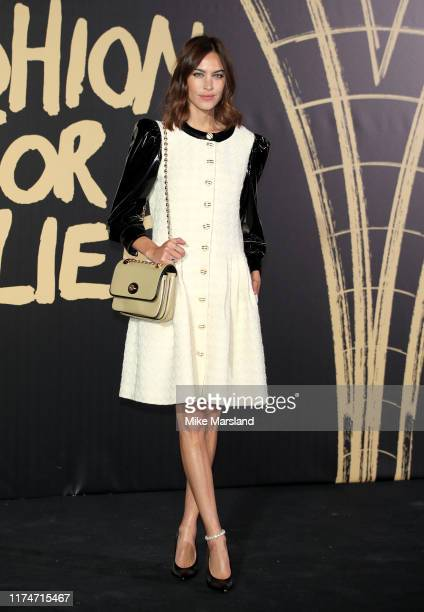 Alexa Chung attends Fashion For Relief London 2019 at The British Museum on September 14 2019 in London England