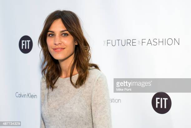 Alexa Chung attends FIT's The Future Of Fashion Runway Show at The Fashion Institute of Technology on May 1 2014 in New York City