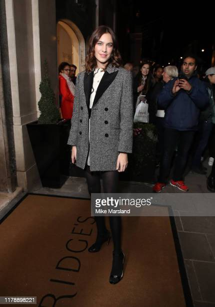 Alexa Chung attends Harper's Bazaar Women Of The Year Awards 2019 at Claridge's Hotel on October 29, 2019 in London, England.