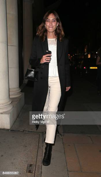 Alexa Chung attends House of Holland popup launch party at Fenwick of Bond Street on September 13 2017 in London England