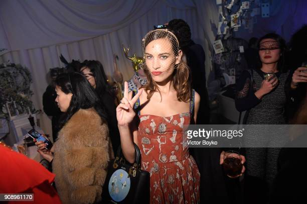 Alexa Chung attends Le Bal Surrealiste Dior during Haute Couture Spring Summer 2018 show as part of Paris Fashion Week on January 22 2018 in Paris...