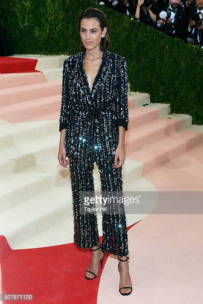 Alexa Chung attends 'Manus x Machina Fashion in an Age of Technology' the 2016 Costume Institute Gala at the Metropolitan Museum of Art on May 02...