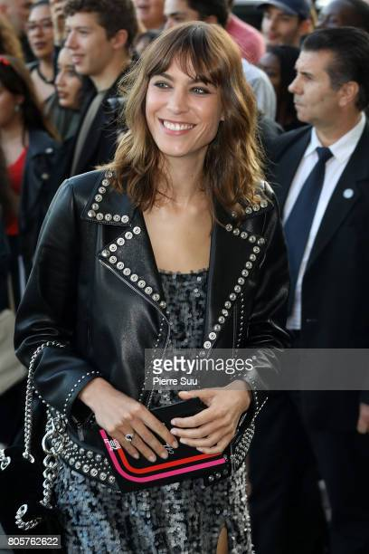 Alexa Chung attends Miu Miu Cruise Collection show as part of Haute Couture Paris Fashion Week on July 2 2017 in Paris France