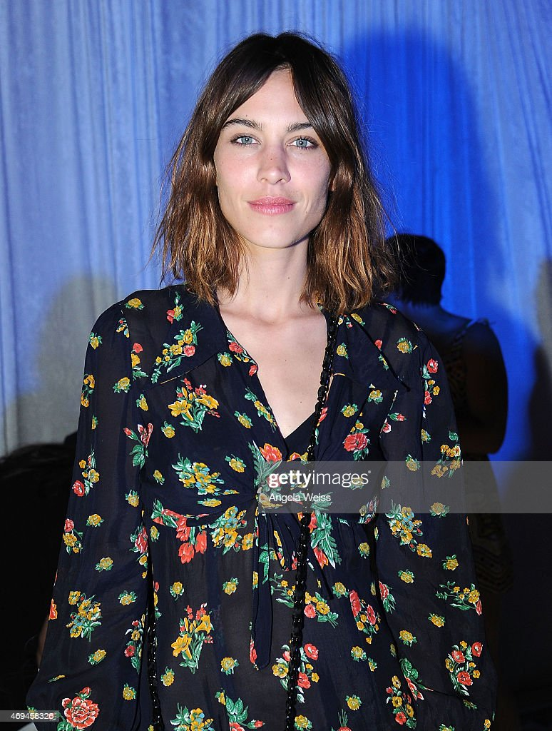 Alexa Chung attends Moet Ice Imperial at Moschino's Late Night hosted by Jeremy Scott at Coachella 2015 on April 11, 2015 in Bermuda Dunes, California.