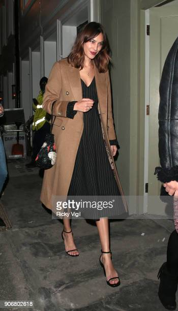 Alexa Chung attends Soho House VIP relaunch party on January 18 2018 in London England