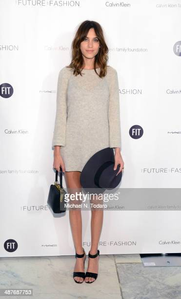 Alexa Chung attends the 2014 Future Of Fashion Runway Show at The Fashion Institute of Technology on May 1 2014 in New York City