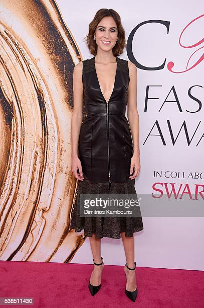 Alexa Chung attends the 2016 CFDA Fashion Awards at the Hammerstein Ballroom on June 6 2016 in New York City