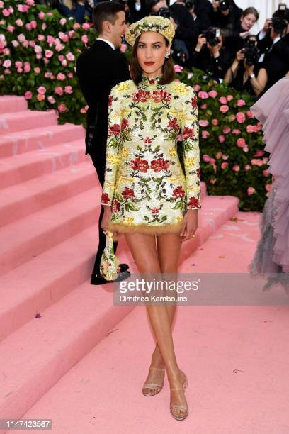Alexa Chung attends The 2019 Met Gala Celebrating Camp Notes on Fashion at Metropolitan Museum of Art on May 06 2019 in New York City