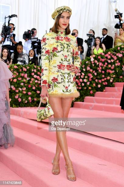 Alexa Chung attends The 2019 Met Gala Celebrating Camp: Notes on Fashion at Metropolitan Museum of Art on May 06, 2019 in New York City.