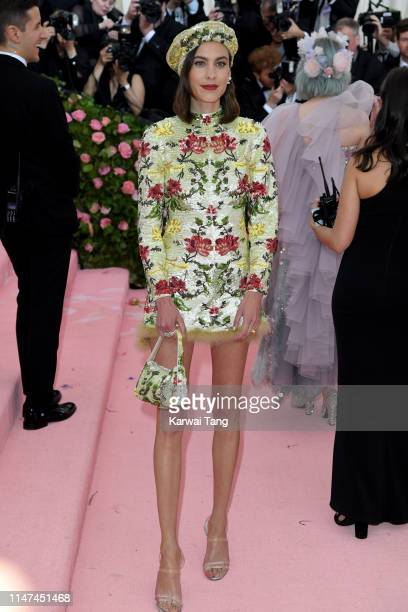 Alexa Chung attends The 2019 Met Gala Celebrating Camp Notes On Fashion at The Metropolitan Museum of Art on May 06 2019 in New York City