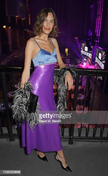 Alexa Chung attends the 24th GQ Men of the Year Awards in association with BOSS at Tate Modern on September 1, 2021 in London, England.