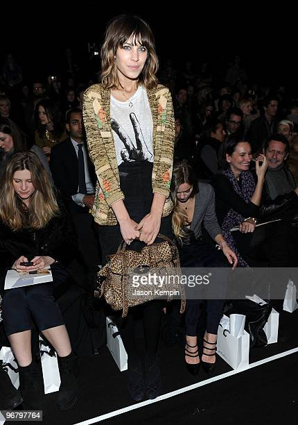 Alexa Chung attends the 3.1 Phillip Lim Fall 2010 Fashion Show during Mercedes-Benz Fashion Week at The Tent at Bryant Park on February 17, 2010 in...