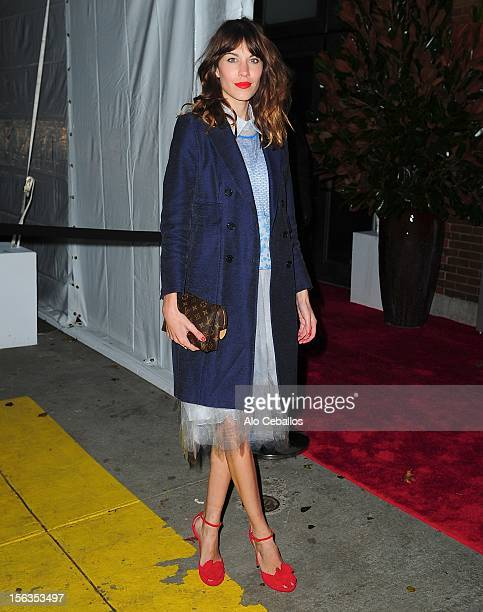 Alexa Chung attends the 9th annual CFDA/Vogue Fashion Fund Awards at Center 548 on November 13 2012 in New York City