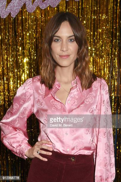 Alexa Chung attends the ALEXACHUNG Fantastic collection party on January 30 2018 in London England