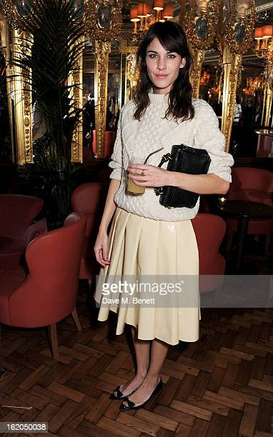 Alexa Chung attends the AnOther Magazine and Dazed Confused party with Belvedere Vodka at the Cafe Royal hotel on February 18 2013 in London England