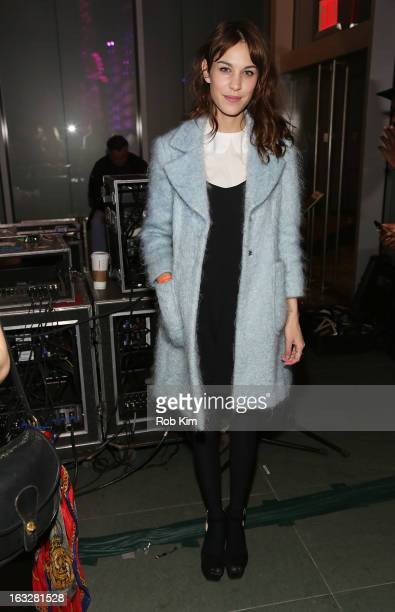 Alexa Chung attends The Armory Party at MOMA on March 6 2013 in New York City