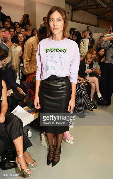 Alexa Chung attends the Ashley Williams runway show during London Fashion Week Spring/Summer collections 2017 on September 16 2016 in London England