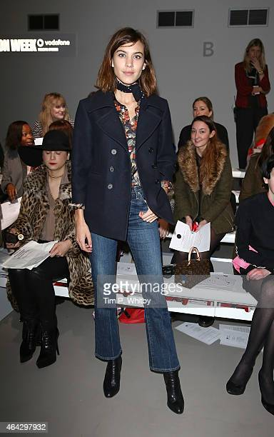 Alexa Chung attends the Ashley Williams show during London Fashion Week Fall/Winter 2015/16 at Somerset House on February 24 2015 in London England