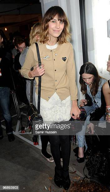 Alexa Chung attends the Autumn/Winter 2010 Topshop Unique London Fashion Week at Topshop Show Space on February 20 2010 in London England