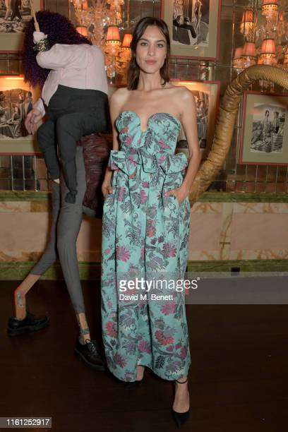 Alexa Chung attends the Bird in Hand 2019 Wine Collection Dinner at Harry's Bar on July 10 2019 in London England