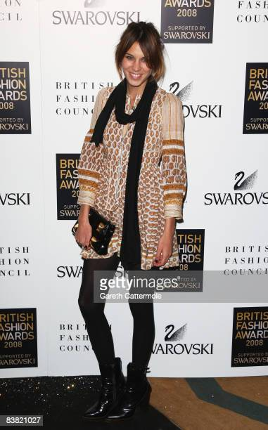 Alexa Chung attends the British Fashion Awards 2008 held at The Lawrence Hall on November 25 2008 in London England