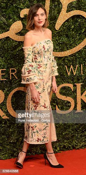Alexa Chung attends the British Fashion Awards at The Coliseum