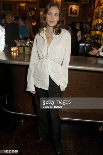 Alexa Chung attends the British GQ dinner cohosted by Dylan Jones Jack Guinness in partnership with JPHackett No14 Savile Row during London Fashion...