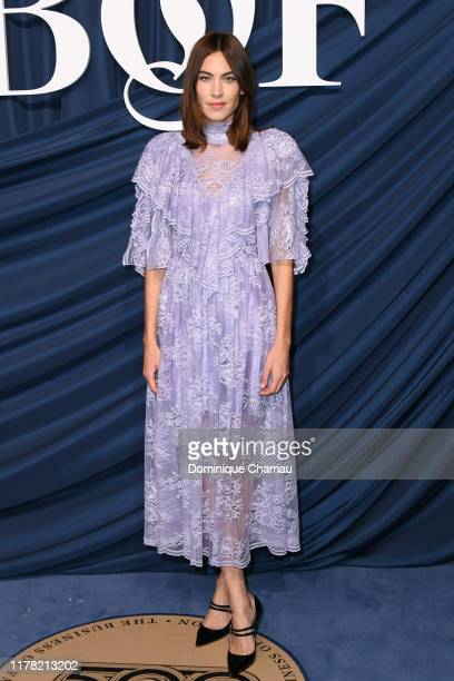 Alexa Chung attends The Business Of Fashion Celebrates The #BoF500 2019 at Hotel de Ville on September 30, 2019 in Paris, France.