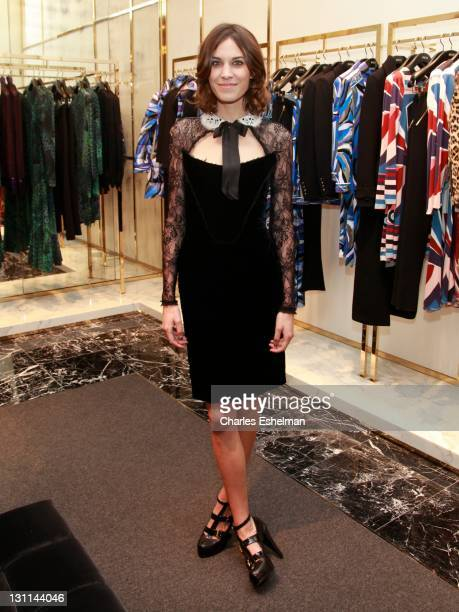 Alexa Chung attends the celebration of Emilio Pucci New Boutique launch at Saks Fifth Avenue on November 1 2011 in New York City