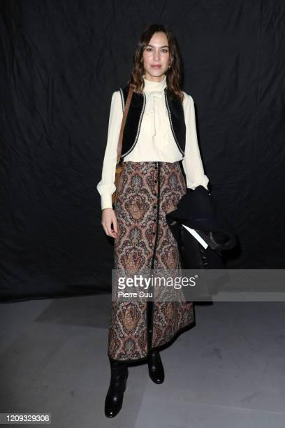 Alexa Chung attends the Celine show as part of the Paris Fashion Week Womenswear Fall/Winter 2020/2021 on February 28, 2020 in Paris, France.
