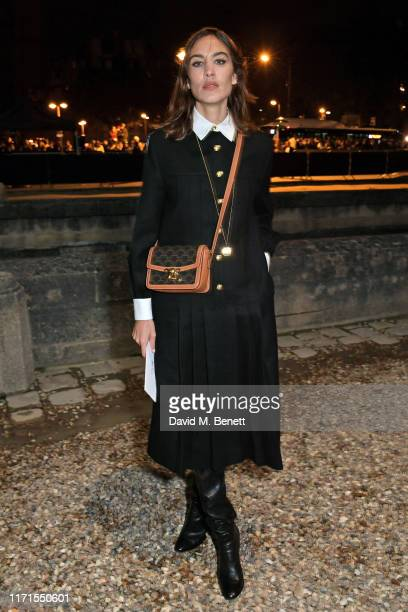 Alexa Chung attends the Celine Womenswear Spring/Summer 2020 show as part of Paris Fashion Week on September 27, 2019 in Paris, France.