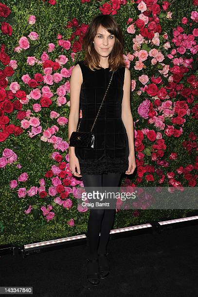 Alexa Chung attends the Chanel Artist Dinner during the 2012 Tribeca Film Festival at the The Odeon on April 24 2012 in New York City