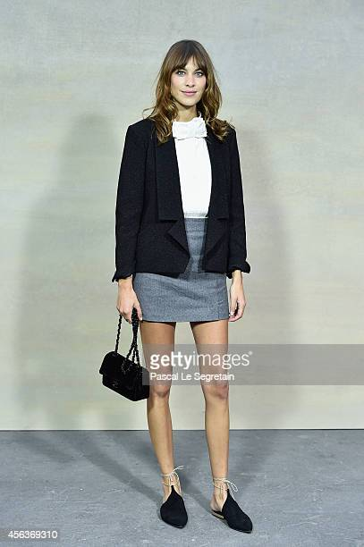 Alexa Chung attends the Chanel show as part of the Paris Fashion Week Womenswear Spring/Summer 2015 on September 30 2014 in Paris France