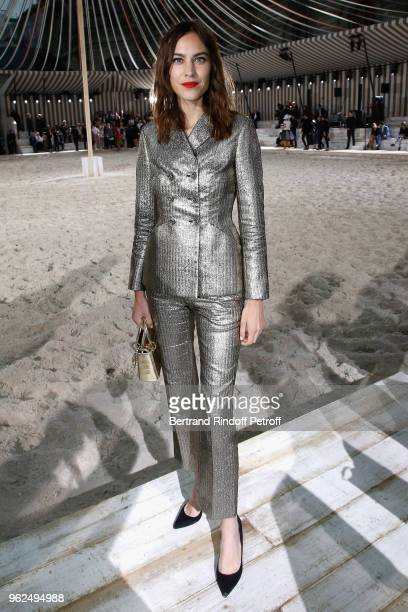 Alexa Chung attends the Christian Dior Couture S/S19 Cruise Collection on May 25 2018 in Chantilly France