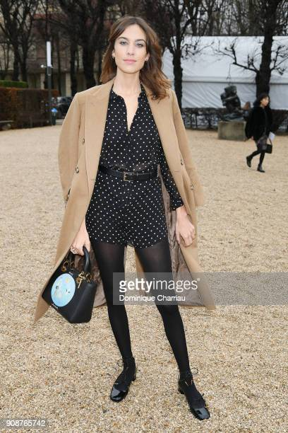 Alexa Chung attends the Christian Dior Haute Couture Spring Summer 2018 show as part of Paris Fashion Week on January 22 2018 in Paris France