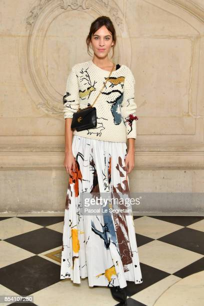 Alexa Chung attends the Christian Dior show as part of the Paris Fashion Week Womenswear Spring/Summer 2018 on September 26 2017 in Paris France