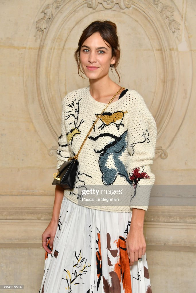 Alexa Chung attends the Christian Dior show as part of the Paris Fashion Week Womenswear Spring/Summer 2018 on September 26, 2017 in Paris, France.