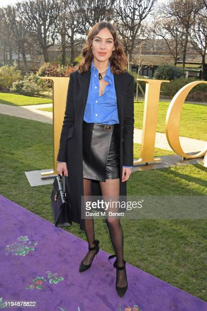 Alexa Chung attends the Dior Haute Couture Spring/Summer 2020 show as part of Paris Fashion Week at Musee Rodin on January 20 2020 in Paris France