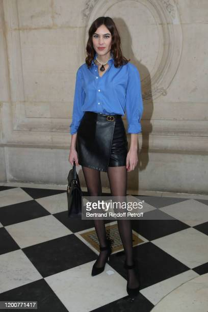 Alexa Chung attends the Dior Haute Couture Spring/Summer 2020 show as part of Paris Fashion Week on January 20, 2020 in Paris, France.