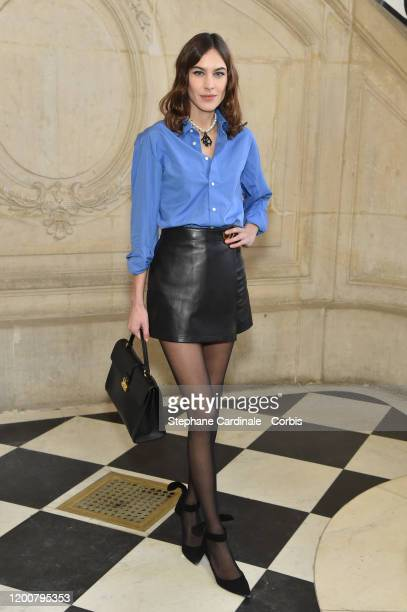 Alexa Chung attends the Dior Haute Couture Spring/Summer 2020 show as part of Paris Fashion Week on January 20 2020 in Paris France