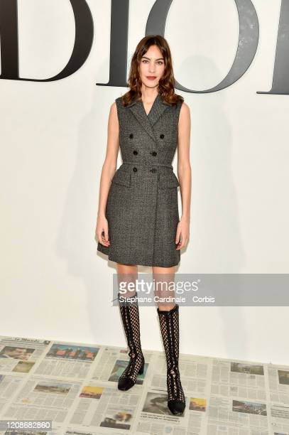 Alexa Chung attends the Dior show as part of the Paris Fashion Week Womenswear Fall/Winter 2020/2021 on February 25, 2020 in Paris, France.