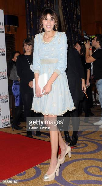 Alexa Chung attends the ELLE Style Awards 2010 at the Grand Connaught Rooms on February 22, 2010 in London, England.