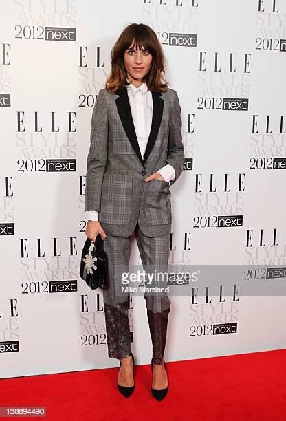 Alexa Chung attends the ELLE Style Awards 2012 at The Savoy Hotel on February 13 2012 in London England